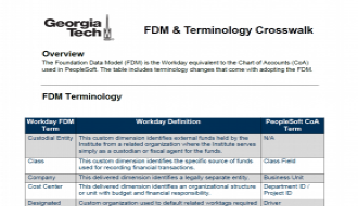 Screenshot of the FDM crosswalk handout