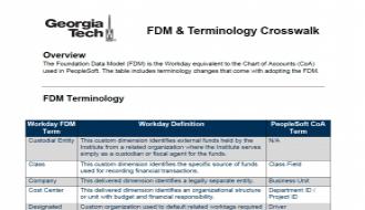 Screenshot of the FDM crosswalk handout
