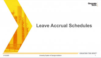 This document provides information on the OneUSG Connect Leave Accrual schedule for biweekly and monthly employees.ayroll in OneUSG Connect.