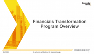 Financials Transformation Overview Document