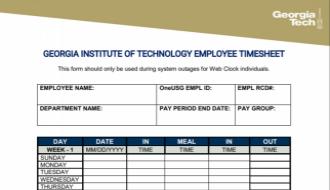 System Down Web Clock Employee Time Sheet